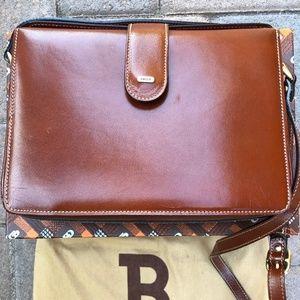 Bally Leather Vintage Burgundy Shoulder Bag